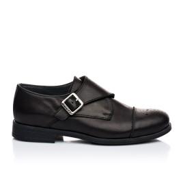 Детские туфли (застежка на резинке) Woopy Orthopedic черные для мальчиков натуральная кожа размер 31-39 (1904) Фото 4