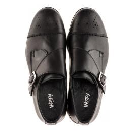Детские туфли (застежка на резинке) Woopy Orthopedic черные для мальчиков натуральная кожа размер 31-39 (1904) Фото 5