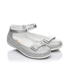 Детские туфлі Woopy Orthopedic серебро для девочек современный текстиль размер 21-21 (1906) Фото 1