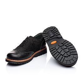Детские туфли (шнурок резинка) Woopy Orthopedic черный для мальчиков натуральный нубук и кожа размер 39-39 (1908) Фото 3