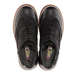 Детские туфли (шнурок резинка) Woopy Orthopedic черный для мальчиков натуральный нубук и кожа размер 39-39 (1908) Фото 4