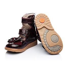 Детские ортопедические туфли (с высоким берцем) Woopy Orthopedic бордовый для девочек натуральная лаковая кожа размер - (1912) Фото 5