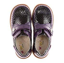 Детские туфли Woopy Orthopedic фиолетовые для девочек натуральная кожа размер 18-18 (1913) Фото 2