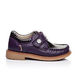 Детские туфли Woopy Orthopedic фиолетовые для девочек натуральная кожа размер 18-18 (1913) Фото 3