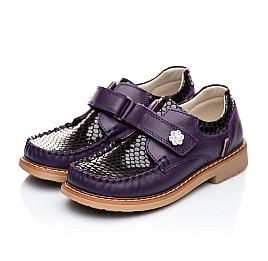Детские туфли Woopy Orthopedic фиолетовые для девочек натуральная кожа размер 18-18 (1913) Фото 4