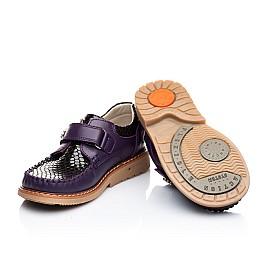 Детские туфли Woopy Orthopedic фиолетовые для девочек натуральная кожа размер 18-18 (1913) Фото 5