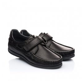 Детские туфли Woopy Orthopedic черные для мальчиков натуральная кожа размер 32-32 (1921) Фото 1