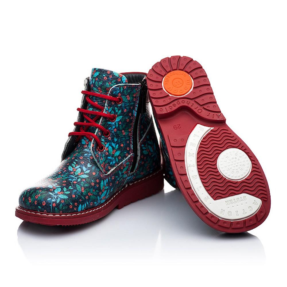 Детские демисезонные ботинки Woopy Orthopedic синий для девочек натуральная кожа размер 20-31 (1931) Фото 2