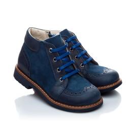 Детские демисезонные ботинки Woopy Orthopedic синий для мальчиков натуральная кожа и нубук размер 18-18 (1952) Фото 1