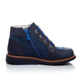 Детские демисезонные ботинки Woopy Orthopedic синий для мальчиков натуральная кожа и нубук размер 18-18 (1952) Фото 2