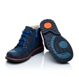 Детские демисезонные ботинки Woopy Orthopedic синий для мальчиков натуральная кожа и нубук размер 18-18 (1952) Фото 3