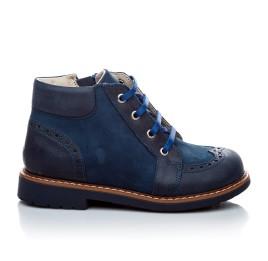 Детские демисезонные ботинки Woopy Orthopedic синий для мальчиков натуральная кожа и нубук размер 18-18 (1952) Фото 4