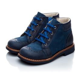 Детские демисезонные ботинки Woopy Orthopedic синий для мальчиков натуральная кожа и нубук размер 18-18 (1952) Фото 5