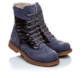 Детские демисезонные ботинки Woopy Orthopedic сиреневые для девочек натуральный нубук размер 21-21 (1957) Фото 1