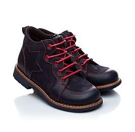 Детские демисезонные ботинки Woopy Orthopedic темно-синие для мальчиков натуральная кожа и нубук размер 18-18 (1965) Фото 1