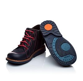 Детские демисезонные ботинки Woopy Orthopedic темно-синие для мальчиков натуральная кожа и нубук размер 18-18 (1965) Фото 5