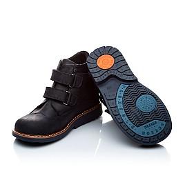 Детские демисезонные ботинки Woopy Orthopedic темно-синие для мальчиков натуральный нубук размер 18-18 (1978) Фото 2