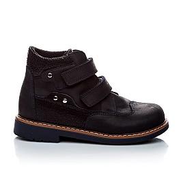 Детские демисезонные ботинки Woopy Orthopedic темно-синие для мальчиков натуральный нубук размер 18-18 (1978) Фото 4