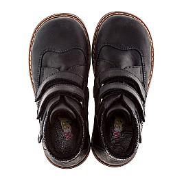 Детские демисезонные ботинки Woopy Orthopedic темно-синие для мальчиков натуральный нубук размер 18-18 (1978) Фото 5