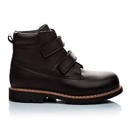 Детские зимние ботинки на меху Woopy Orthopedic черный для мальчиков натуральная кожа размер - (2005) Фото 4