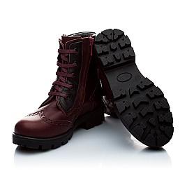 Детские зимние ботинки на меху Woopy Orthopedic бордовый для девочек натуральная кожа размер - (2007) Фото 2