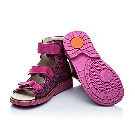 Детские ортопедические босоножки (с высоким берцем) Woopy Orthopedic фиолетовые, разноцветные для девочек натуральная кожа размер - (2008) Фото 5