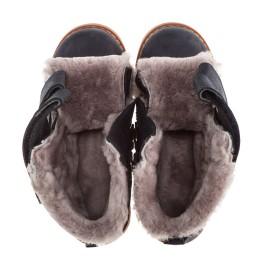 Детские зимние ботинки на меху Woopy Orthopedic черный для мальчиков нубук-OIL (это нубук, который в процессе производства защитили от влаги) размер - (2019) Фото 2