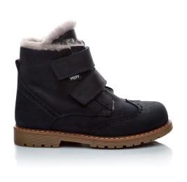 Детские зимние ботинки на меху Woopy Orthopedic черный для мальчиков нубук-OIL (это нубук, который в процессе производства защитили от влаги) размер - (2019) Фото 3