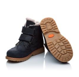 Детские зимние ботинки на меху Woopy Orthopedic черный для мальчиков нубук-OIL (это нубук, который в процессе производства защитили от влаги) размер - (2019) Фото 4