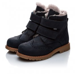 Детские зимние ботинки на меху Woopy Orthopedic черный для мальчиков нубук-OIL (это нубук, который в процессе производства защитили от влаги) размер - (2019) Фото 5