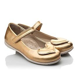 Детские туфлі Woopy Orthopedic золотые для девочек искуственная кожа размер 21-21 (2033) Фото 1
