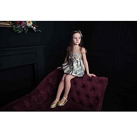 Детские туфлі Woopy Orthopedic золотые для девочек искуственная кожа размер 21-21 (2033) Фото 2