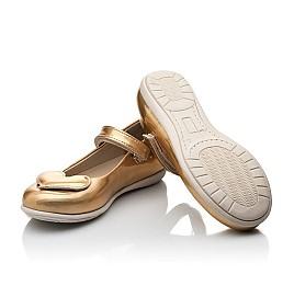 Детские туфлі Woopy Orthopedic золотые для девочек искуственная кожа размер 21-21 (2033) Фото 3