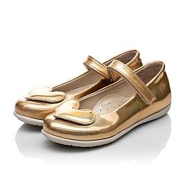 Детские туфлі Woopy Orthopedic золотые для девочек искуственная кожа размер 21-21 (2033) Фото 4