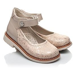 Детские туфли Woopy Orthopedic золотые для девочек натуральная кожа / лаковая кожа размер 21-23 (2036) Фото 1