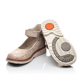 Детские туфли Woopy Orthopedic золотые для девочек натуральная кожа / лаковая кожа размер 21-23 (2036) Фото 2