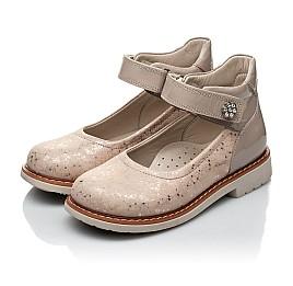 Детские туфли Woopy Orthopedic золотые для девочек натуральная кожа / лаковая кожа размер 21-23 (2036) Фото 3