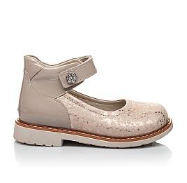 Детские туфли Woopy Orthopedic золотые для девочек натуральная кожа / лаковая кожа размер 21-23 (2036) Фото 4