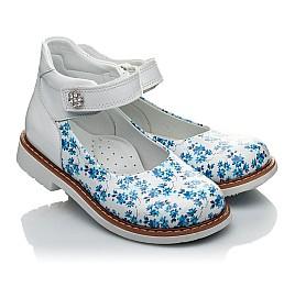 Детские туфлі Woopy Orthopedic голубые, белые для девочек натуральная кожа размер 23-23 (2043) Фото 1