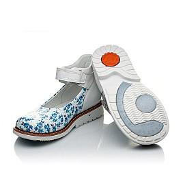 Детские туфлі Woopy Orthopedic голубые, белые для девочек натуральная кожа размер 23-23 (2043) Фото 2