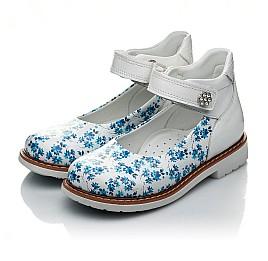 Детские туфлі Woopy Orthopedic голубые, белые для девочек натуральная кожа размер 23-23 (2043) Фото 3