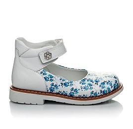 Детские туфлі Woopy Orthopedic голубые, белые для девочек натуральная кожа размер 23-23 (2043) Фото 4