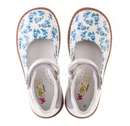 Детские туфлі Woopy Orthopedic голубые, белые для девочек натуральная кожа размер 23-23 (2043) Фото 5