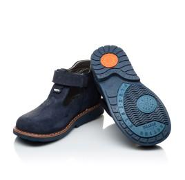 Детские туфли Woopy Orthopedic темно-синие для мальчиков натуральный нубук размер 21-21 (2050) Фото 2