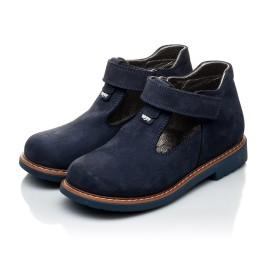 Детские туфли Woopy Orthopedic темно-синие для мальчиков натуральный нубук размер 21-21 (2050) Фото 3