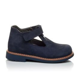 Детские туфли Woopy Orthopedic темно-синие для мальчиков натуральный нубук размер 21-21 (2050) Фото 4