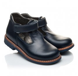 Детские туфли Woopy Orthopedic синие для мальчиков натуральная кожа размер 21-22 (2051) Фото 1