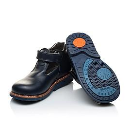 Детские туфли Woopy Orthopedic синие для мальчиков натуральная кожа размер 21-22 (2051) Фото 2