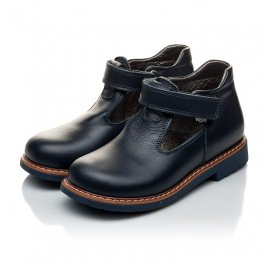 Детские туфли Woopy Orthopedic синие для мальчиков натуральная кожа размер 21-22 (2051) Фото 3