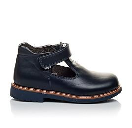 Детские туфли Woopy Orthopedic синие для мальчиков натуральная кожа размер 21-22 (2051) Фото 4